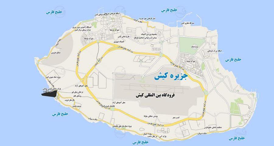 نقشه کیش