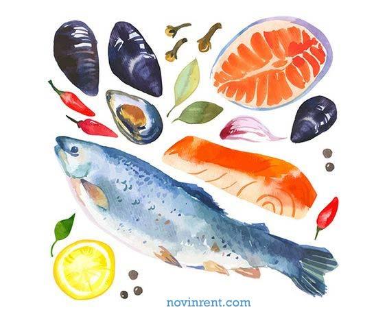 غذای دریایی کیش